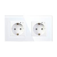 Умная встраиваемая Wi-Fi розетка HIPER IoT Outlet W02 Duo