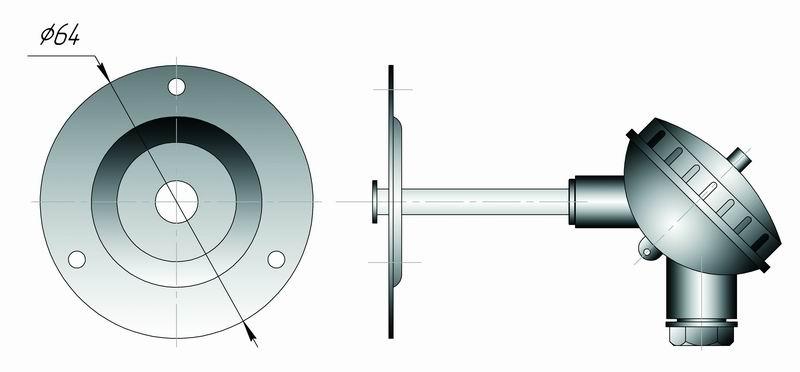 Датчик температуры для систем HVAC типа Кл2-1