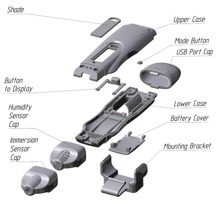 Корпус переносного прибора с USB П3